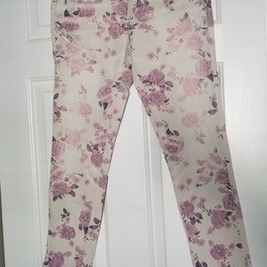 AE Skinny Floral Jeans